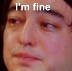 'Joji i'm fine meme ' Sticker by sadravioli All Meme, Stupid Funny Memes, Funny Relatable Memes, Funny Tweets, Hilarious, Memes Humor, Memes Lindos, Response Memes, Current Mood Meme