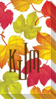 Falling Leaves Caspari Guest Towels