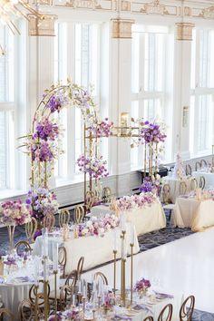 Lilac Wedding Themes, Gold Wedding Theme, Wedding Stage Decorations, Purple Wedding, Dream Wedding, Wedding Flowers, Best Wedding Planner, Wedding Planners, Luxury Wedding Decor