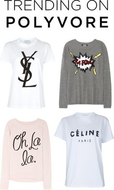 """""""Trending on Polyvore: Graphic Tees"""" by polyvore-editorial ❤ liked on Polyvore"""