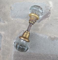 Vintage Glass Doorknob Set from TremendousTreasures