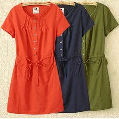 Large Size Dress Summer Style Women Casual Clothing Loose Short Sleeve Cotton Linen Eleastic Waist Dress vestidos C3