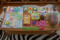 Items for a toddler Easter basket