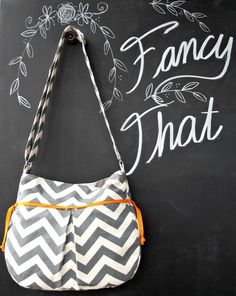 Best Seller Large Chevron Purse IPad Grey by ShoppeFancyThat, $60.00