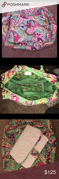 NWT Vera Bradley Convertible Baby Bag New, new used, tags still attached, ultra rare Vera Bradley Convertible Baby Bag in retired Tutti Frutti print. This item is no longer available in Vera Bradley stores on online, it is rare to find this bag anywhere, especially in the Tutti Frutti print. Please message me if bundling as packages over 5lbs incur an extra shipping cost. Thank you! Vera Bradley Bags Baby Bags