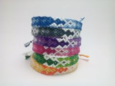 Fading diamond friendship bracelets string by Liv4Friendship. $10 each plus S&H.
