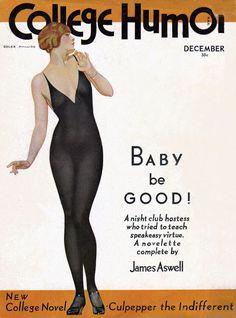 Coles Phillips - College Humor Magazine cover (December 1930)