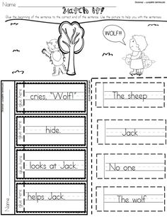 "*Free Sample included in product preview!* This supplemental workbook provides extra practice to go along with Journeys Unit 2; Lesson 6, Jack and the Wolf."" The engaging activities provide a chance for independent practice while you are working with small groups or for you to use as assessment .  $ #firstgrade #journeys #freebie"