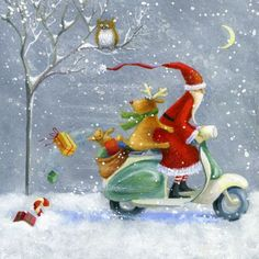 Album 2 « Gallery 16 « Christmas (by category) « Jan Pashley – Illustration / Design Christmas Scenes, Christmas Love, Christmas Pictures, Winter Christmas, All Things Christmas, Vintage Christmas, Christmas Crafts, Christmas Decorations, Christmas Ornaments