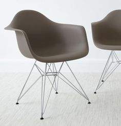 Eames Moulded Wire Frame Dining Chair in taupe from Danetti.