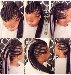 I am loving these braids. I really love the pink highlights Black Girl Braids, Braids For Black Hair, Girls Braids, Braided Mohawk Black Hair, African Braids Hairstyles, Twist Hairstyles, Cute Hairstyles, Braided Mohawk Hairstyles, Mohawk Styles