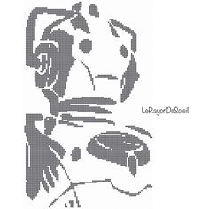 Un favorito personal de mi tienda Etsy https://www.etsy.com/listing/245667203/doctor-who-cyberman-cross-stitch-pattern