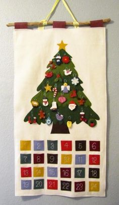 Felt Advent Calendar with Ornaments pattern on Craftsy.com
