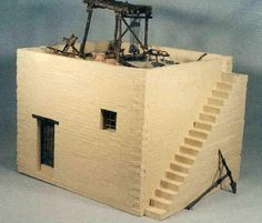 House from Biblical, Roman era Israel by Walter Vaughn. Scale: = Roman law required the parapet on top of the house. Bible Photos, Sunday School Projects, Prayer Corner, Bible Mapping, Understanding The Bible, House Template, The Good Shepherd, History Projects, Thinking Day