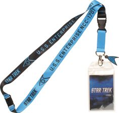 Star Trek TOS Enterprise Blue Charm Lanyard