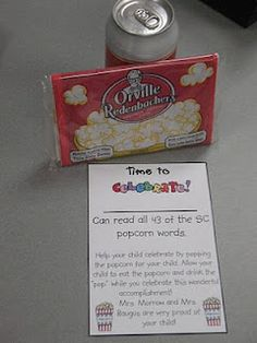 Put these in a paper bag when students can read all sight words! * good idea for sight word benchmark