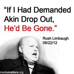 Say WHAT?   Rush Limbaugh gloating over his influence on GOP, 08/22/12