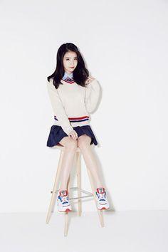 Sbenu chose Song Jae Rim and IU to be their models for the Description… Korean Fashion Trends, Asian Fashion, Iu Fashion, Korean Girl, Asian Girl, Song Jae Rim, Sana Momo, Pretty Asian, High School Girls