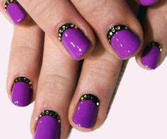 Cuticle nail art...how neat is that? I also love that shade of purple too.