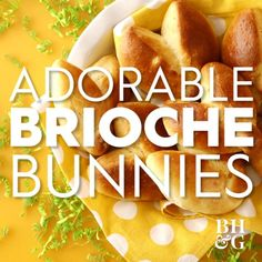 Whip up a batch of these delicious (and adorable!) brioche rolls shaped just like bunnies. We'll show you how to snip and shape the dough into a group of bunny friends that are the perfect addition to your Easter brunch menu. #easterrecipe #easterbrunch #easterfood #briocherecipe #cuteeasterideas #bhg