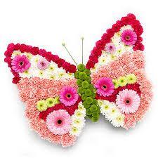 Resultado de imagem para Butterfly Floral Design Fresh Flowers RePinned by: VilleresFlorist.com