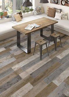 VIVES - Floor tiles - porcelain Montgomery Multicolor 19,2X119,3  cm.   VIVES azulejos y Gres   ceramic wood   vintage wood   porcelain tile