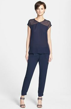 Vince Sheer Yoke Blouse & Harem Pants  available at #Nordstrom