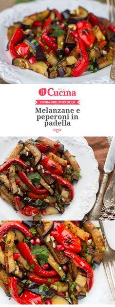 #Melanzane e #peperoni in padella