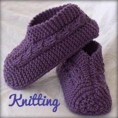 I've decided to share one of my most favourite things to knit...slippers just like Grandma used to make. I've given the pattern so any one ...