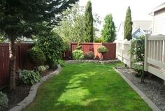 Transitional Landscape/Yard with Raised beds, Fence