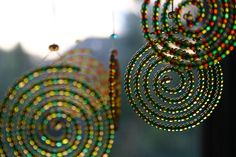 Spiral beaded sun catcher