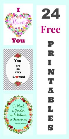 24 Free Printables | Cottage at the Crossroads