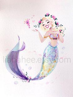 Your place to buy and sell all things handmade Mermaid Artwork, Mermaid Drawings, Mermaid Paintings, Art Vampire, Vampire Knight, Vintage Mermaid, Mermaid Mermaid, Tattoo Mermaid, Art Mignon