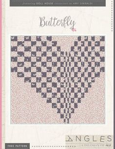 Butterfly Quilt Free Pattern by AGF Studio Bargello Quilt Patterns, Modern Quilt Patterns, Quilt Patterns Free, Quilt Modern, Sewing Patterns, Map Quilt, Patch Quilt, Quilt Blocks, Pattern Art