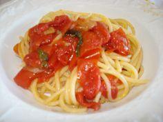 spaghetti al filetto di pomodoro