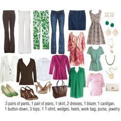 Perfect fit! Emerald & Raspberry: Work Capsule Wardrobe by kristin727 on Polyvore featuring Mata Traders, Gap, Bea & Dot, J.Crew, Paige Denim, Emilio Pucci, Nine West, Coach, ESCADA and Kendra Scott