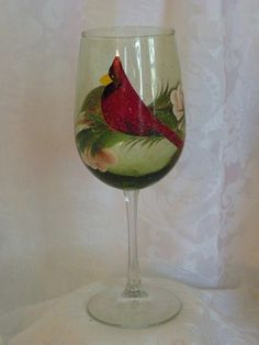 Hey, I found this really awesome Etsy listing at https://www.etsy.com/listing/208221358/cardinal-hand-painted-wine-glasses