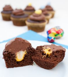 Cadbury Creme Egg cupcakes!