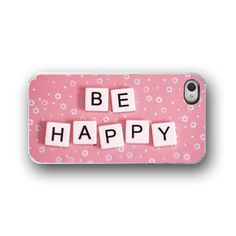 iPhone CaseiPhone Case 4/4s Be Happy Pink by ShadetreePhotography, $32.00