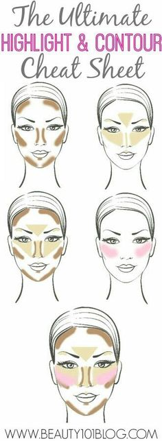 Contour, highlight, blush, bronzer