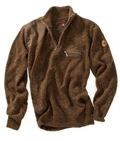 Gaston J. Glock Donegal Wool Hunting Sweater