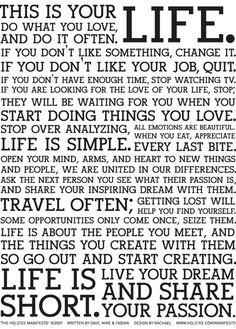 Exactly how life should be...
