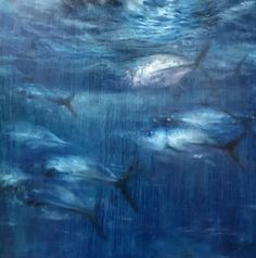 Paintings of David C. Gallup, fine art painter of fish, sharks, underwater scenes, Malibu paintings, marine art, coastal paintings. - David C. Gallup Fine Art Im Blue, Kind Of Blue, Coastal Art, Coastal Style, Decorating On A Dime, Underwater Fish, Landscape Paintings, Ocean Paintings, Fish Art
