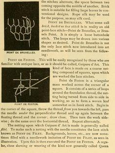Point De Bruxelles And Point De Feston Stitches From The Public Domain Ebook Art