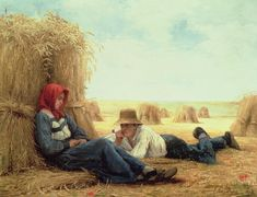 Couple Painting - Harvest Time by Julien Dupre
