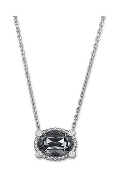 SWAROVSKI Rosette Mini Dark Multi-tone Pendant Necklace, $100 ON JENEELOVEE.COM - Sweet and delicate, this romantic necklace has a fresh vintage appeal. It features an oval, Crystal Silver Night centerpiece on a palladium-plated chain. Easy to wear with any outfit!