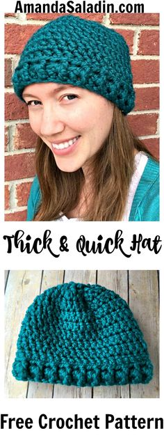 Create a hat in a jiffy with the FREE Thick & Quick Hat pattern that uses Lion Brand Wool-Ease Thick & Quick and a large hook to work up in about an hour.