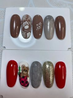 Christmas Nails, Nail Polish, Christmas Manicure, Nail Polishes, Polish, Xmas Nails, Manicure, Nail Polish Colors