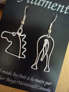 Too funny horse butt earrings. I can also make a horse shoe to mix and match. Click image to go to my Etsy shop.