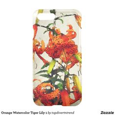 Orange Watercolor Tiger Lily 1 iPhone 7 Plus Case